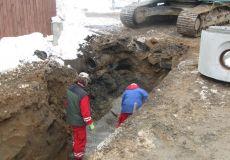 Kanalizační řad v ul. Zaryník